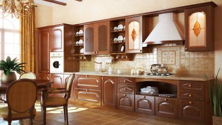 Кухня с антресолями Lucia