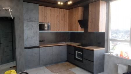кухня по размерам заказчика Кухня на заказ Мерет