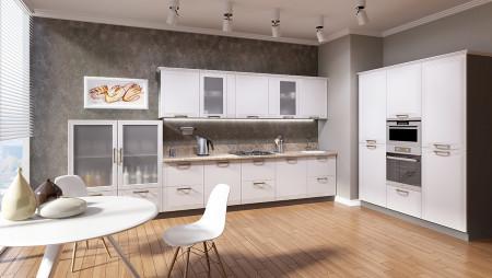 Кухня с антресолями Prizma