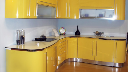 Кухня с антресолями под заказ  Демарко